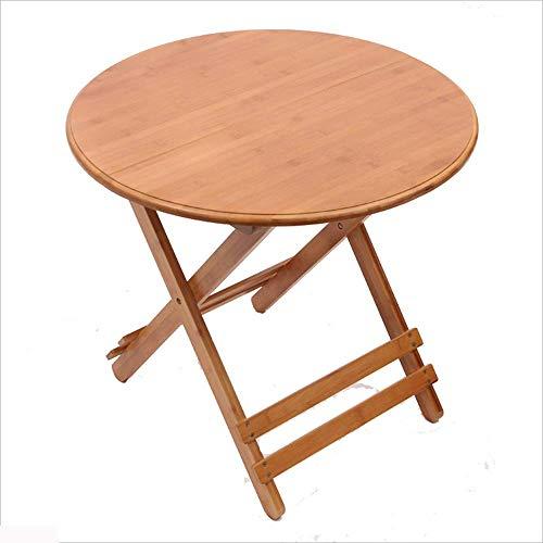Axdwfd Table pliante en bois massif de Table d'ordinateur portable en bois massif Table ronde moderne, convient au salon de la salle à manger Chambre 4 tailles (taille : L70cm)