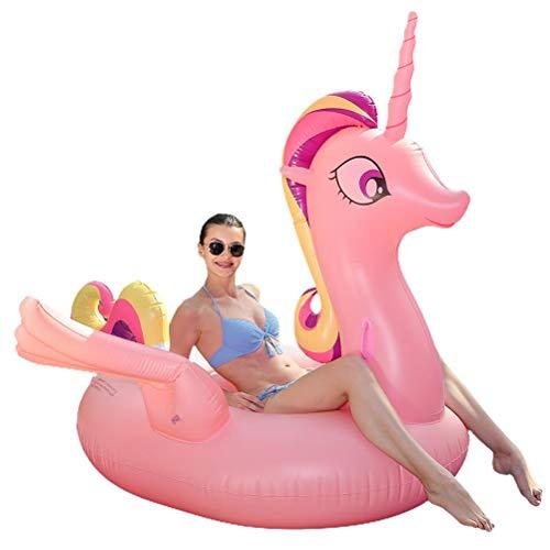ZIXIXI Flotador inflable para piscina de unicornio, para niños y adultos, flotador inflable de unicornio, asiento para niños, diversión de verano, piscina al aire libre juguetes