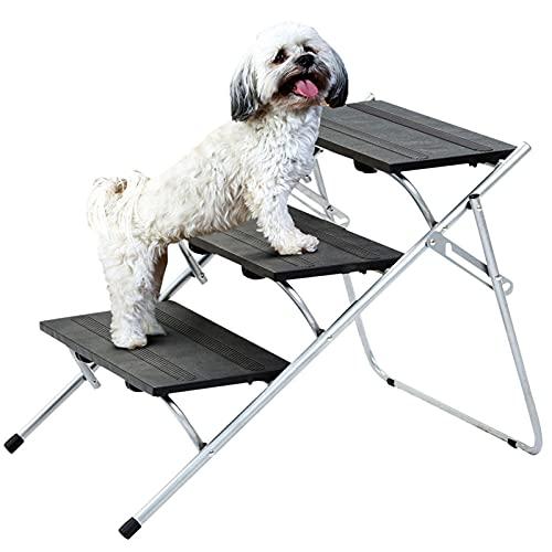 powers Dog Stairs 3-lagige Faltbare Hunde-Treppen für Hunde und Katzen-Hunde-Rampen für kleine Hunde