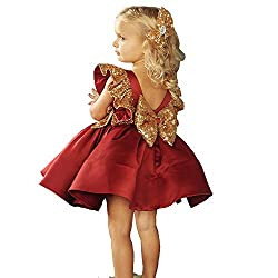 Red Sequin Kids Princess Outfits