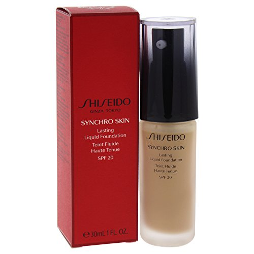 Shiseido Synchro Skin Lasting Liquid Foundation Golden 4, 1er Pack (1 x 30 g)