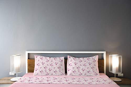 GEMITEX G15, Farbe 03 Pink, Doppelbett-Bettwäsche-Set, 100% Baumwolle, mit Kissenhüllen