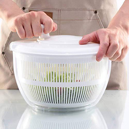 Centrifugadoras, centrifugadoras manuales o lechugas, secadora de centrifugado, rápida y fácil de usar, protege las manos, mango giratorio compacto, para lavar, centrifugar y...