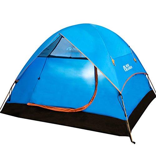 MUYUNXI Anti-muggen Mobi outdoor lente en zomer wandelen camping winddicht 3-4 stapelbed aluminium paal camping tent opgezet dfa Camping Tent