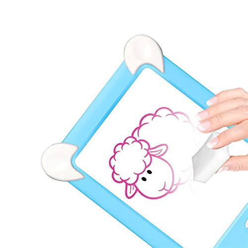 Clhbaih Tablero de Dibujo Dibujo a Mano Almohadilla de Escritura 3D Magic Drawing Pad LED Tablero de Escritura Luminoso Dibujo Tablero Puzzle de los niños Desarrollo del Cerebro Juguete (Color : B)