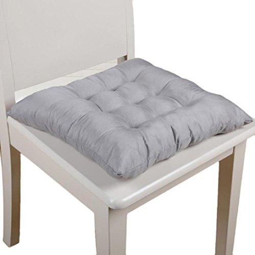 Ouneed Sitzkissen Stuhlkissen , Soft Home Office Square Cotton Sitzkissen Gesäss Stuhl Kissen Auflagen (Grau)