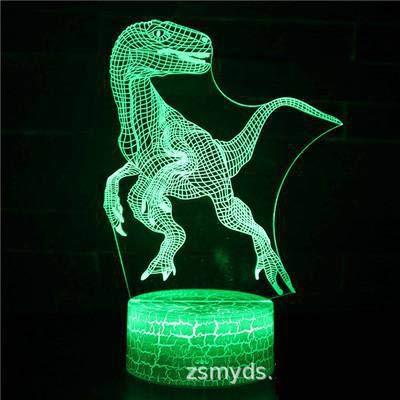 Alte Tiere Drachen Monster Tyrannosaurus Cartoon Dinosaurier Serie 3D USB Schreibtisch Tisch Tamp kreative Kinder Geschenke visuelle bunte Nachtlicht Kinder Geschenk Home Decoration