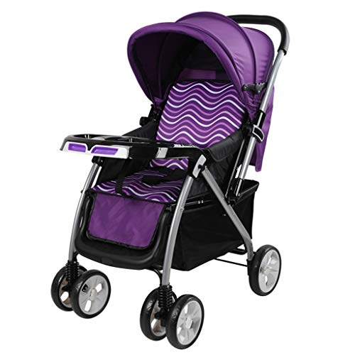 Best Bargain Gflyme Stroller Baby Stroller Lightweight Folding Shock Two-Way Seated Lying Four Round...
