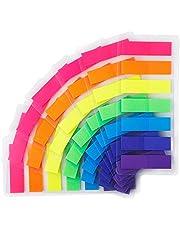 CYWVYNYT 980 stuks zelfklevende strips zelfklevende markeringen film tekststrips plakbriefjes zelfklevende markeringen kleine vlaggen zelfklevende notities tabs beschrijfbare etiketten voor bladmarkering (7 kleuren)