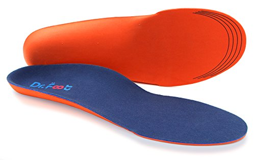 Dr Foot#039s Orthotics Insoles for Flat Feet  Arch Support Shoe Inserts for Plantar Fasciitis Foot amp Heel Pain High Arches and OverPronation Comfort amp Relief for Men and Women  M
