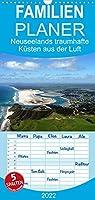 Neuseelands traumhafte Kuesten aus der Luft - Familienplaner hoch (Wandkalender 2022 , 21 cm x 45 cm, hoch): Luftbilder der traumhaften Kuesten Neuseelands (Monatskalender, 14 Seiten )