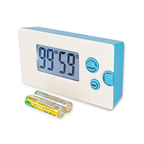 Extra Loud Timer, Music Timer, Kitchen Timer with Backlight, Digital Timer with Memory, Speaker Countdown Timer for kids, teachers, hearing impaired, elderly people.