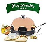 Emerio PO-115984 Forno per Pizza, Ceramica, Terracotta Arancione/Nero