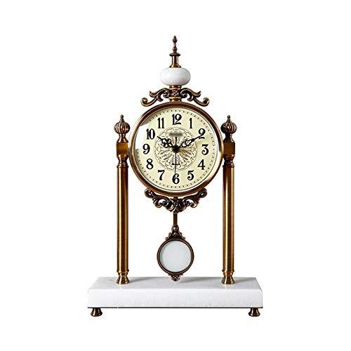 Reloj de mesa Reloj de escritorio de decoración de la sala de estar Decoración de lujo grande de lujo de un lado reloj de reloj de la batería impulsada por la batería 18.1 pulgadas Reloj de decoración