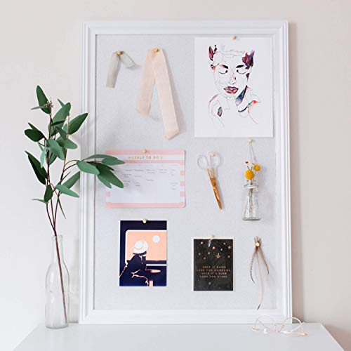 Cork Board with Wood Frame, Multiple Sizes | Bulletin Board | Pin Board | Memo Board | Corkboard | Vision Board Supplies | Cork Board | Cork Board Bulletin Board | Cork Boards | (White, 30X20) Photo #2