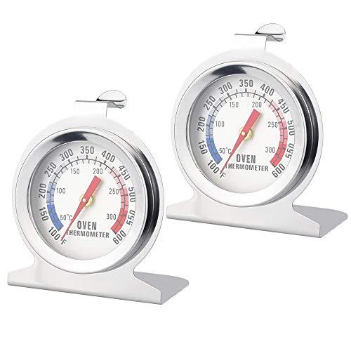 LYTIVAGEN 2 Pezzi Termometro da Forno in Acciaio Inossidabile Termometro da Arrosto Termometro da Cucina per Misurare Temperatura di Cottura(50-300 ° C, Argento)