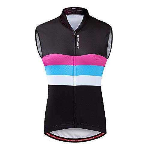 WOSAWE Maillot de Ciclismo para Mujer Transpirable Sin Mangas Chaqueta de Bicicleta...