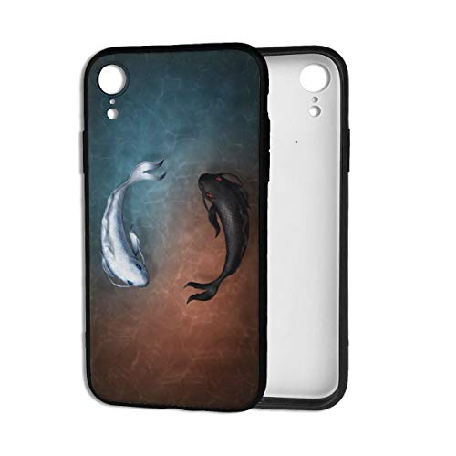 ZouKouDou Tai Chi yin yang koi Fish iPhone XR TPU High-End Shockproof Phone Case