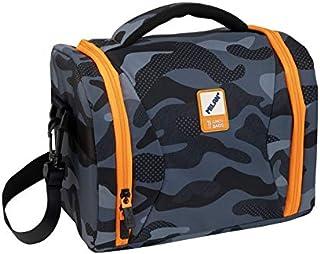 Bolsa isotérmica porta alimentos gran capacidad 5l, Black Camouflage, negro y naranja
