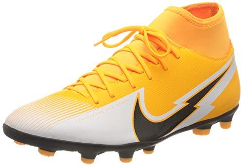 Nike Superfly 7 Club FG/MG, Scarpe da Calcio Unisex-Adulto, Laser Orange/Black-White-Laser Orange, 43 EU