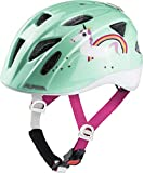Alpina XIMO Flash Casco de Bicicleta, Girls, Mint Unicorn, 45-49