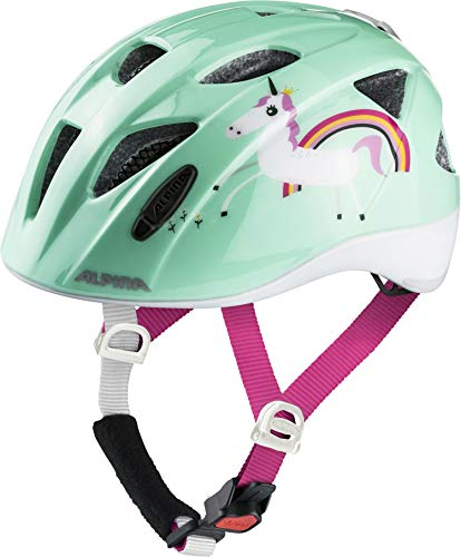 ALPINA Unisex - Kinder, XIMO FLASH Fahrradhelm, mint unicorn gloss, 49-54 cm