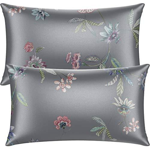 Neptten Gray Satin Pillowcase for Hair and Skin. Wrinkle