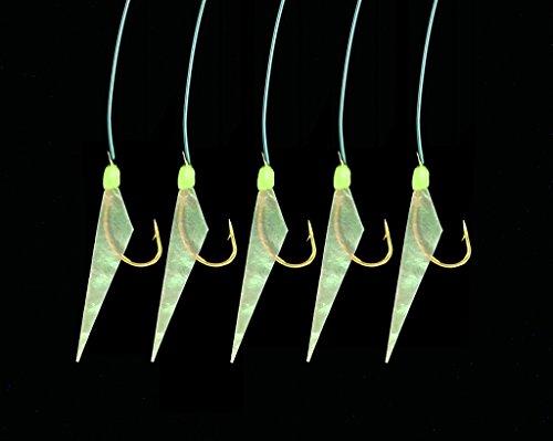 Heringsvorfach mit Leuchtpunkten und echter Fischhaut