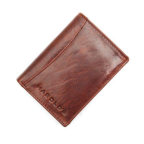 Harold´s, Geldbörse,Hochformat, Herren-Portemonnaie aus echtem Leder (ca.9cm / 12cm / 2,5cm) Mod. 5011 by Fashion-Formel