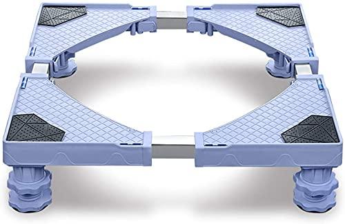 Froadp Waschmaschinen Untergestell Sockel Einstellbare Unterschrank für Trockner, Waschmaschine und Kühlschrank(45-75cm)- 4Füße