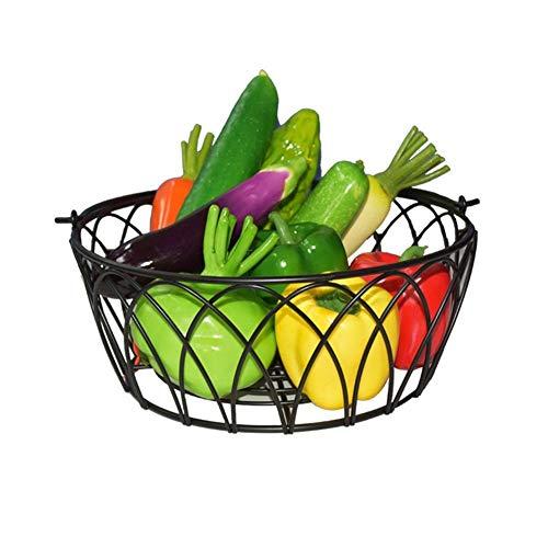 Decoración del hogar Cesta de frutas verduras geométrica fruta alambre cocina for guardar objetos de metal cesta cocina un tazón contenedor de almacenamiento de visualización en escritorio Decoración