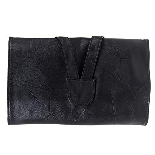 ZRDY 12/18/24 Cosmetic Makeup Brushes Étui Titulaire Roll Bag De Haute Qualité en Faux Cuir Noir Pouch Longueur Standard Brosse (Color : 24pcs)