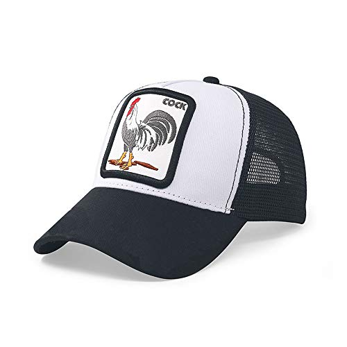 Greetuny Gorra Unisex Beisbol Animales Bordado Retro Casual Gorra Americana Camionero Moda Sombrero (Cock)