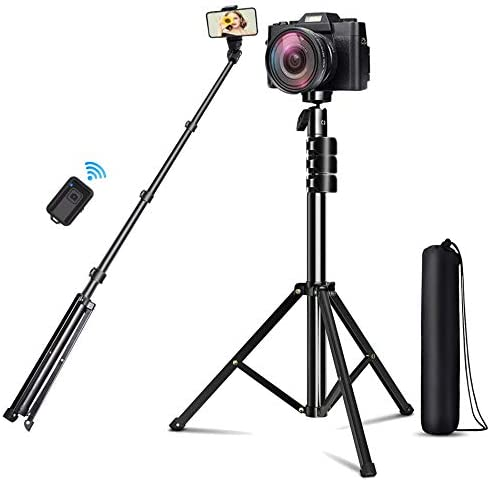 Selfie Stick Tripod Sumcoo 51 Extendable Cell Phone Tripod with Wireless Bluetooth Remote for product image