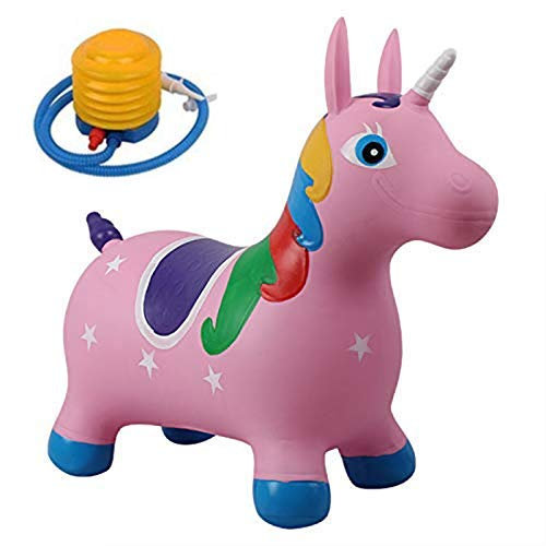 YUEBAOBEI Umweltfreundlich PVC Aufblasbare Vaultingpferd, Pumpe enthalten, Kinder Jumping Hopper, Aufsitz-Bouncy Unicorn Pferd Hopper, Sitzen, und Bounce,B