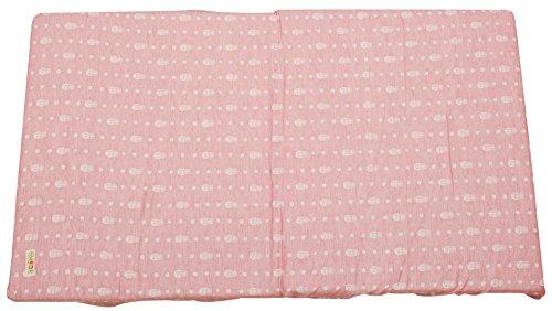 エムール フィットシーツ ベビーサイズ マトリョーシカピンク 日本製 綿100% 2重織ガーゼ 周囲ゴムフィット式 ベビー シーツ