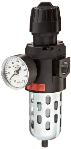 Dixon CB6-04MG Manual Drain Wilkerson Compact Filter/Regulator with Transparent Bowl and Guard, 1/2 Size, 70 SCFM Flow, 150 psig Pressure by Dixon Valve & Coupling