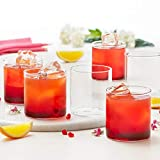Borosil Vision Classic Large Tumbler [Set of 6] -Clear Lightweight & Durable Drinkware, 10 Ounce Cups
