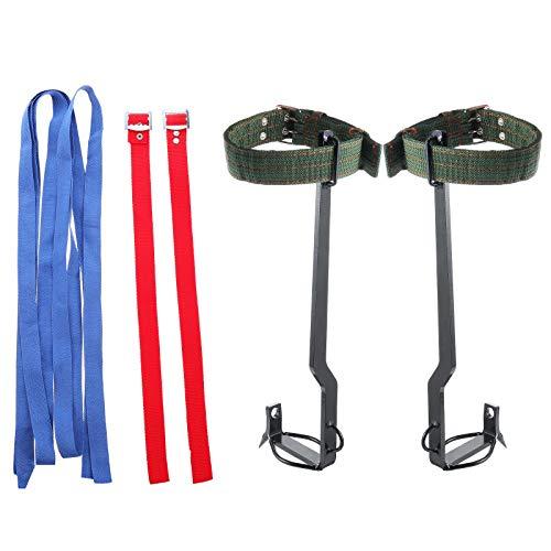Abaodam 1 Set Kletterschuhe mit Stacheln und Stretch-Bändern, Katzenpfoten-Stangen-Kit.