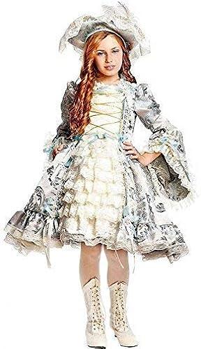 Fancy Me Italienische Herstellung mädchen Deluxe Silber Renaissance Piraten Karneval Halloween Kostüm Kleid Outfit 1-10 Jahre