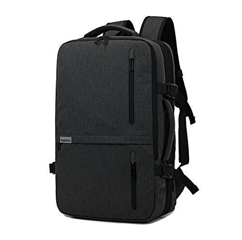 Mochila para computadora portátil, maletín de negocios de 15.6 pulgadas, con puerto de carga USB, función antirrobo, mochila para estudiantes elegante y liviana, regalos para hombres y mujeres (negro)