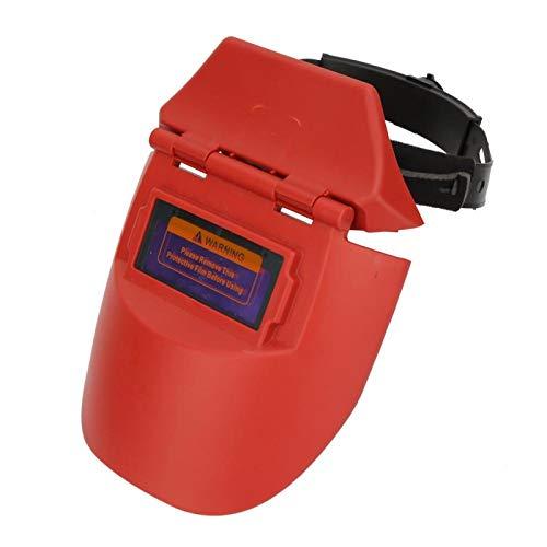 Máscara de soldadura SALUTUYA, máscara de soldadura fotoeléctrica con oscurecimiento automático solar, medio casco, protector facial para soldador (naranja/negro)(naranja) ⭐