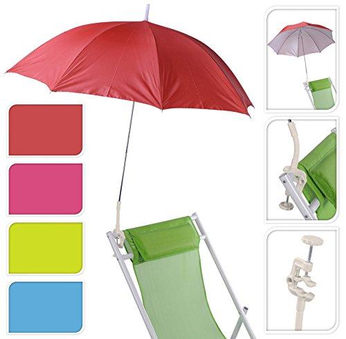 Meinposten Sonnenschirm für Kinderwagen Ø 100 cm UV Schutz 50+ Buggy Schirm für liegen (Blau)