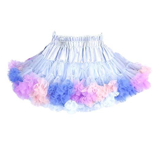 ZYLL Mode Baby Girls Tutu Jupes Princesse Pettiskirt Ballet Danse Tutu Jupe Kids Party Costume,C,100CM
