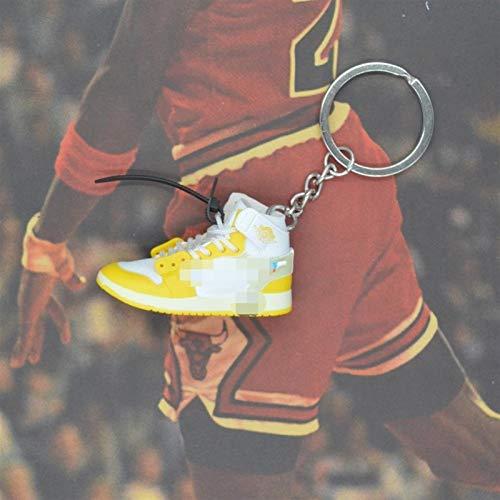 Xssbhsm Llavero Zapatos de la Zapatilla de Deporte 3D Llaveros con Anillo de Metal y la Caja (Color : #8/27)