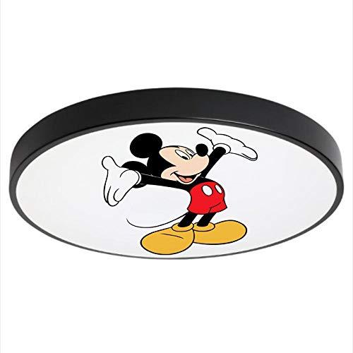 Led Lámpara De Techo Regulable Con Mando A Distancia,Plafón Led De Techo Chico/Niña Dormitorio Habitación,Lámpara Mickey Mouse Lámpara Creativa D40Cm Luz Blanca
