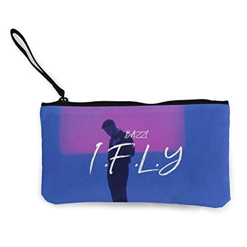 Pencil Bag Pen Case Bazzi - I.F.L.Y. Canvas Students Stationery Pouch Zipper Bag for Pens Small Objects