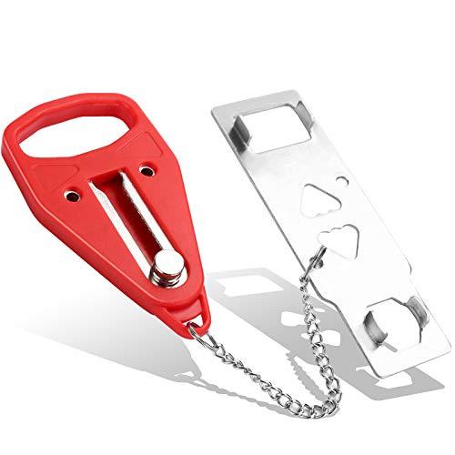Portable Door Lock for Travel,- Travel Door Lock, College Dorm Lock, Hotel Room Security Devices, Portable Door Locks for Apartment, Portable Door Jammer, Suitable for All Kinds of Doors