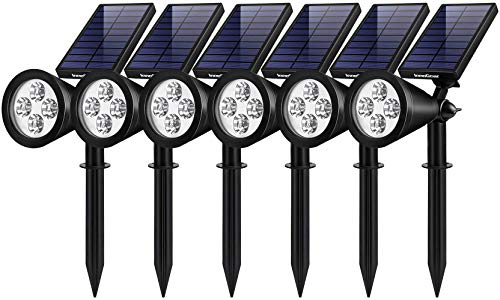 InnoGear Solar Lights Outdoor, Upgraded Waterproof Solar Powered Landscape Spotlights 2-in-1 Wall Light Decorative Lighting Auto On/Off for Pathway Garden Patio Yard Driveway Pool, Pack of 6 (White)