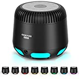 White Noise Machine, 24 Relaxing Nature Sounds, 10-Color Baby Night Light, V5.1 Wireless Speaker, Built-in Rechargeable Battery Sound Machine Sleep Therapy for Baby Adult Kids Sleeping Nursery Home
